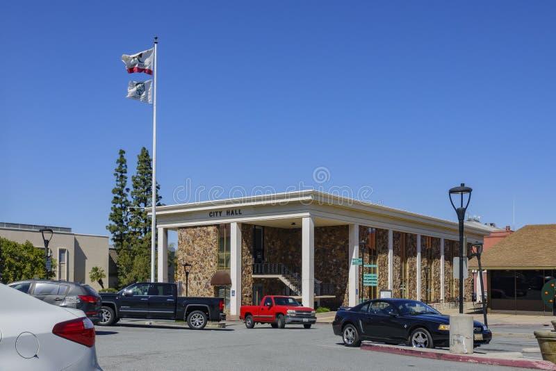 Exterior view of the City of Redlands City Hall stock photos