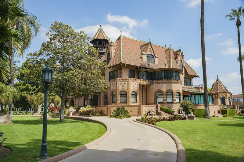 Exterior view of Doheny Mansion of Mount Saint Mary\'s University. Los Angeles, APR 2: Exterior view of Doheny Mansion of Mount Saint Mary\'s University on APR 2 royalty free stock photos