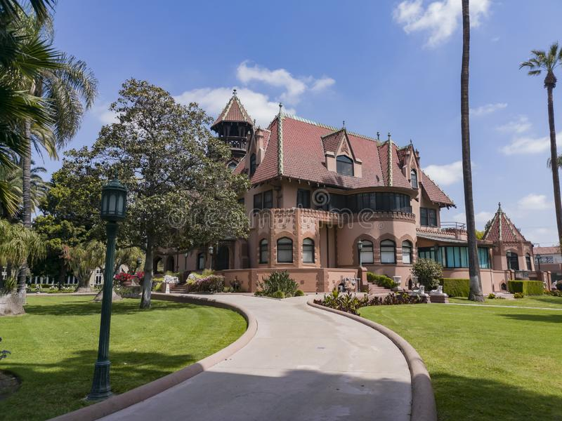Exterior view of Doheny Mansion of Mount Saint Mary\'s University. Los Angeles, APR 2: Exterior view of Doheny Mansion of Mount Saint Mary\'s University on APR 2 stock image