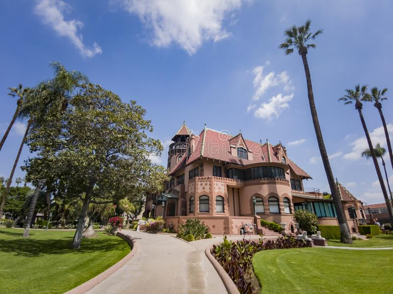Exterior view of Doheny Mansion of Mount Saint Mary\'s University. Los Angeles, APR 2: Exterior view of Doheny Mansion of Mount Saint Mary\'s University on APR 2 stock photography