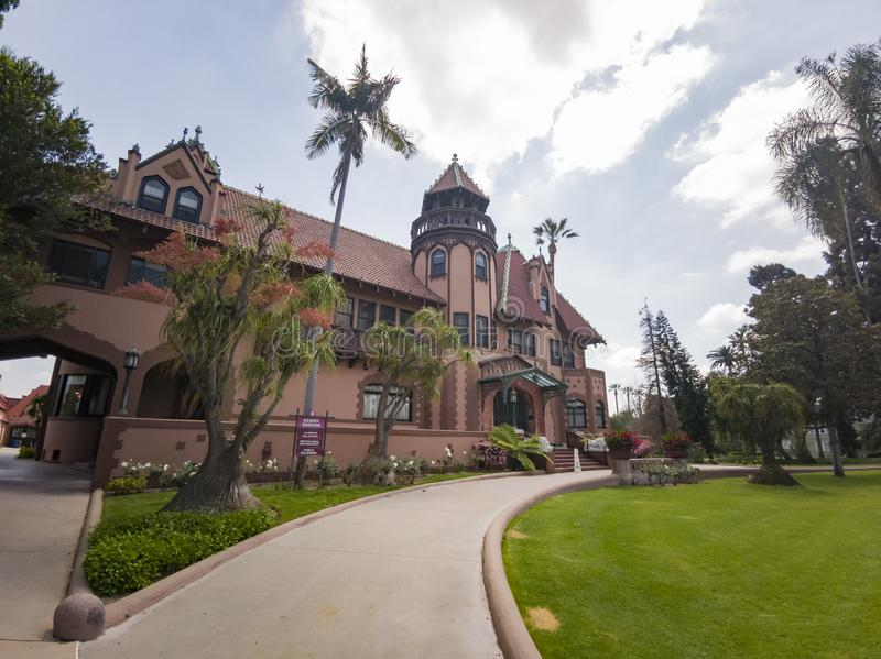 Exterior view of Doheny Mansion of Mount Saint Mary\'s University. Los Angeles, APR 2: Exterior view of Doheny Mansion of Mount Saint Mary\'s University on APR 2 royalty free stock photo
