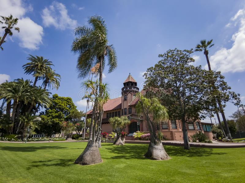 Exterior view of Doheny Mansion of Mount Saint Mary\'s University. Los Angeles, APR 2: Exterior view of Doheny Mansion of Mount Saint Mary\'s University on APR 2 stock images