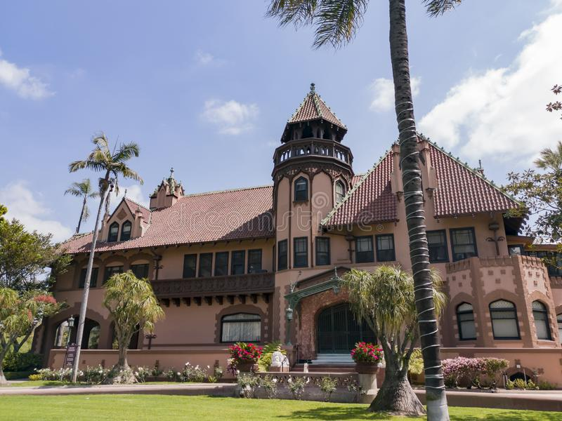 Exterior view of Doheny Mansion of Mount Saint Mary\'s University. Los Angeles, APR 2: Exterior view of Doheny Mansion of Mount Saint Mary\'s University on APR 2 royalty free stock photography