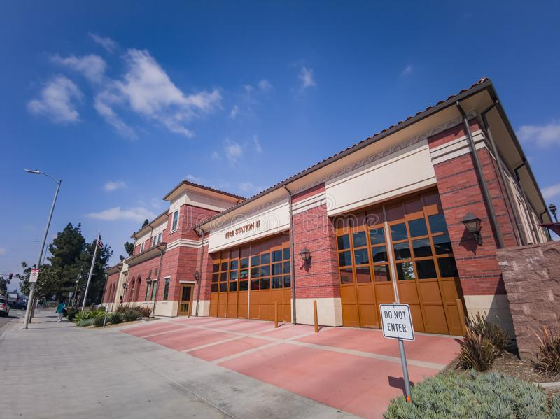 Exterior view of fire department. Los Angeles, APR 2: Exterior view of fire department on APR 2, 2019 at Los Angeles, California stock images