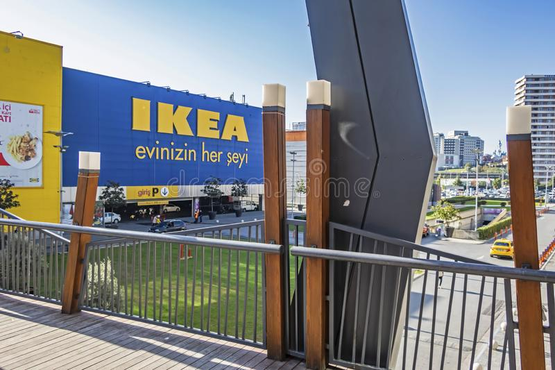 Exterior view from ikea bayrampasa store in istanbul photos stock