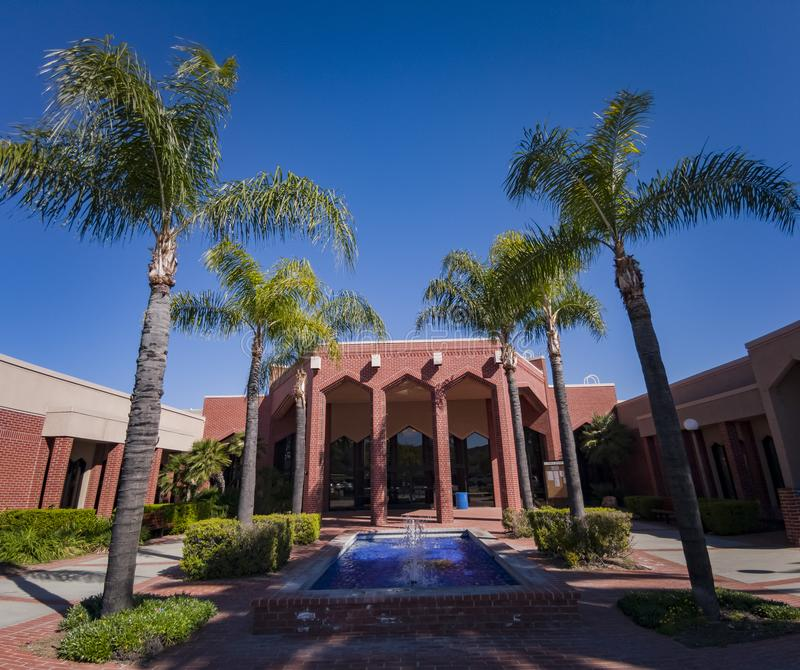 Exterior view of the Loma Linda Chamber of Commerce. Los Angeles, MAR 20: Exterior view of the Loma Linda Chamber of Commerce on MAR 20, 2019 at Los Angeles royalty free stock photography