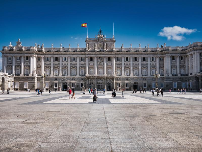 Exterior view of Palacio Real Real Palace in Madrid Spain stock photos