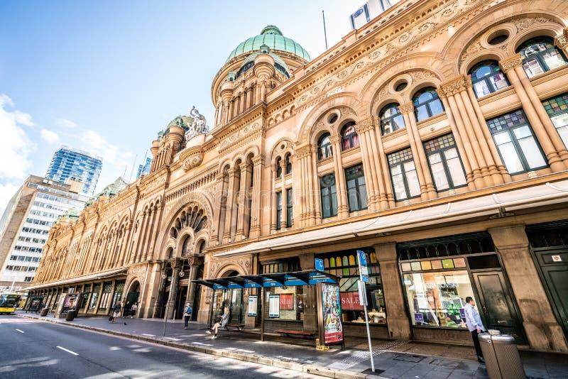 Exterior view of Queen Victoria Building or QVB shoppping arcade in Sydney NSW Australia royalty free stock photos