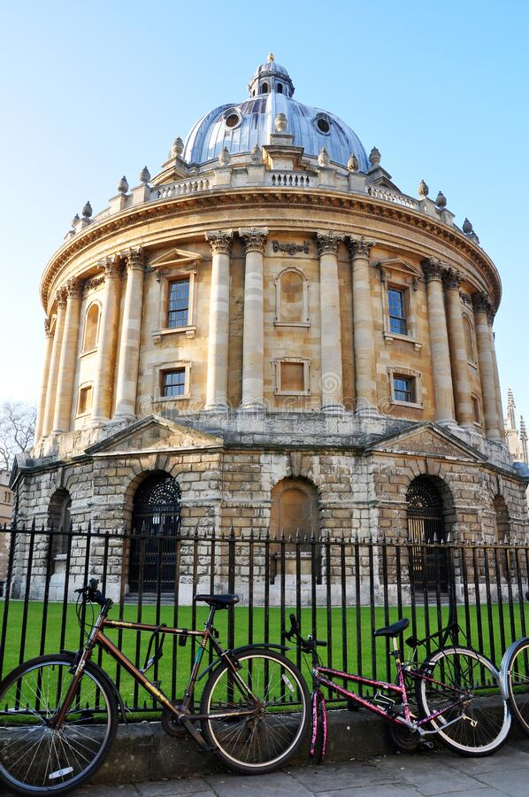 Exterior view of Radcliffe Camera, Oxford, England stock photo