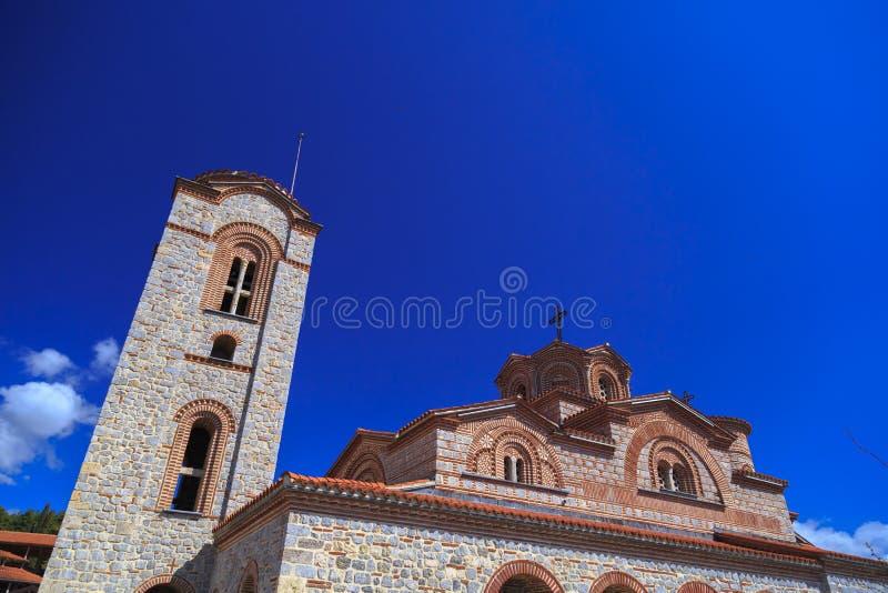 Exterior view of St. Panteleimon in Ohrid. Macedonia stock photography