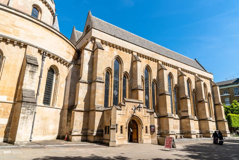 Exterior view of The Temple Church in London royalty free stock photography