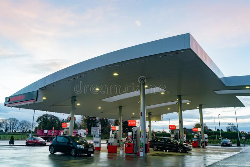 View Of Texaco Petrol Stations  Editorial Photography
