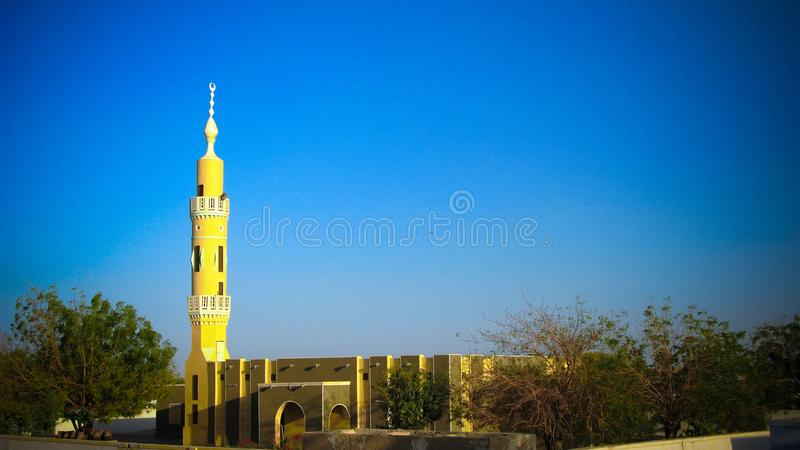 Exterior view to Abri mosque, Sudan. Exterior view to Abri mosque at Sudan royalty free stock photo
