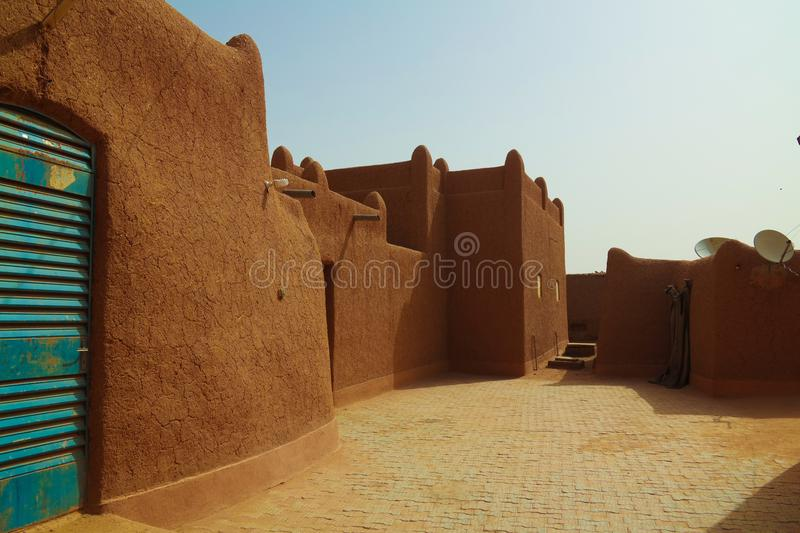 Exterior view to Agadez sultan residence, Niger. Exterior view to Agadez sultan residence in Niger royalty free stock photo