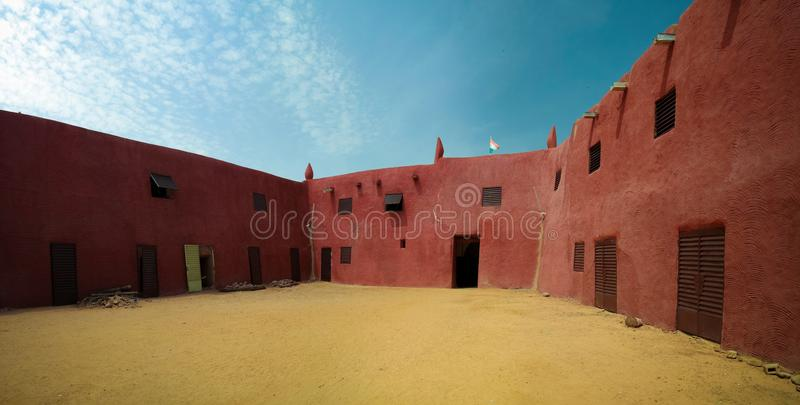 Exterior view to Damagaram sultan residence, Zinder, Niger. Exterior view to Damagaram sultan residence at Zinder, Niger stock images