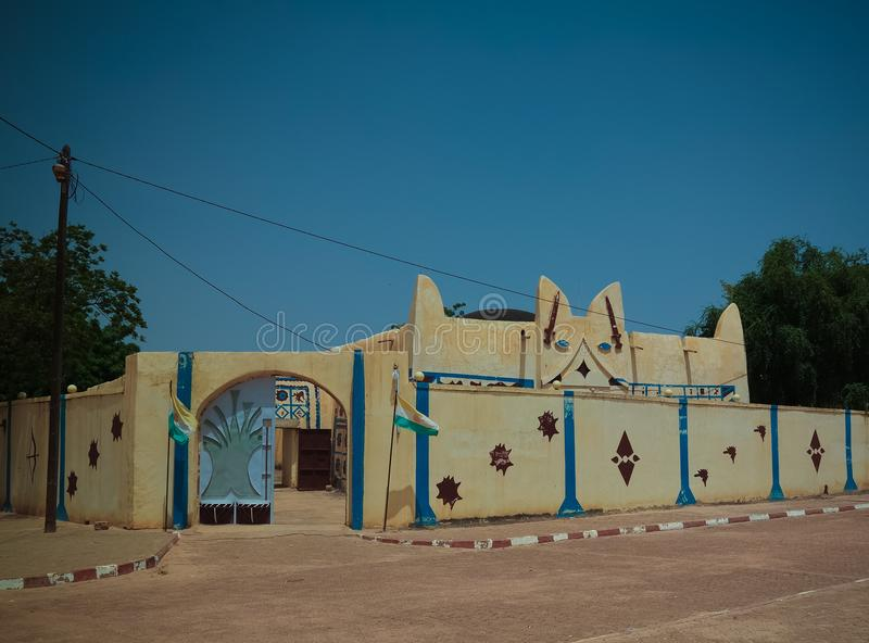 Exterior view to Dosso sultan residence, Niger. Exterior view to Dosso sultan residence in Niger royalty free stock image