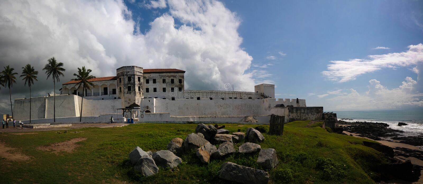 Exterior view to Elmina castle and fortress, Ghana stock photos