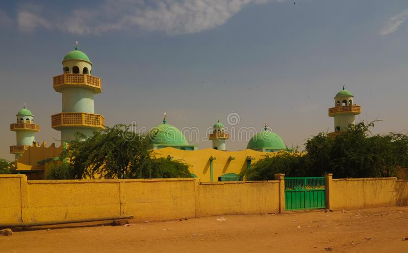 Exterior view to Grand mosque of Zinder , Niger. Exterior view to Grand mosque of Zinder in Niger stock image