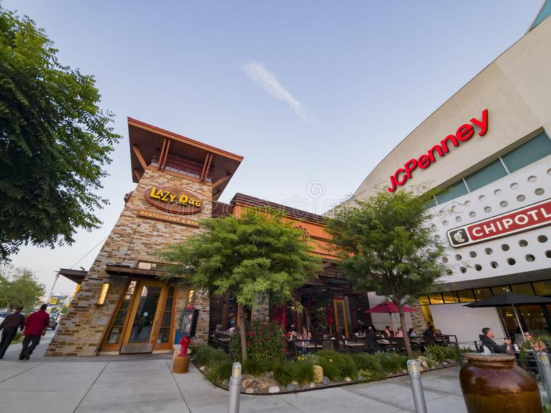 Exterior view of the West Covina shopping mall. West Covina, JUN 15: Exterior view of the shopping mall on JUN 15, 2019 at West Covina, California royalty free stock image