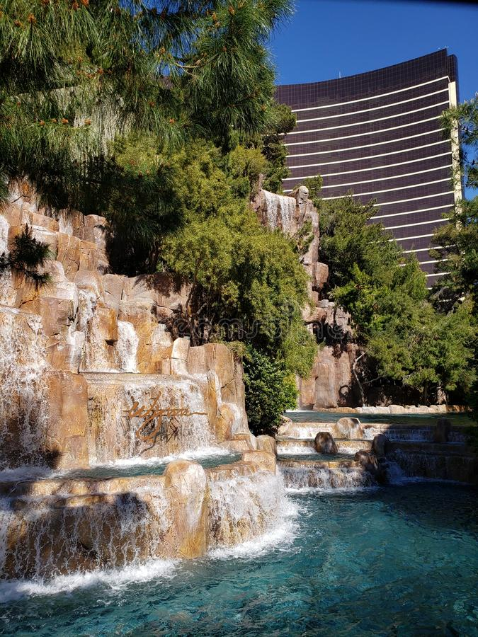 exterior view of the Wynn Hotel in the city of Las Vegas, Nevada at day royalty free stock images