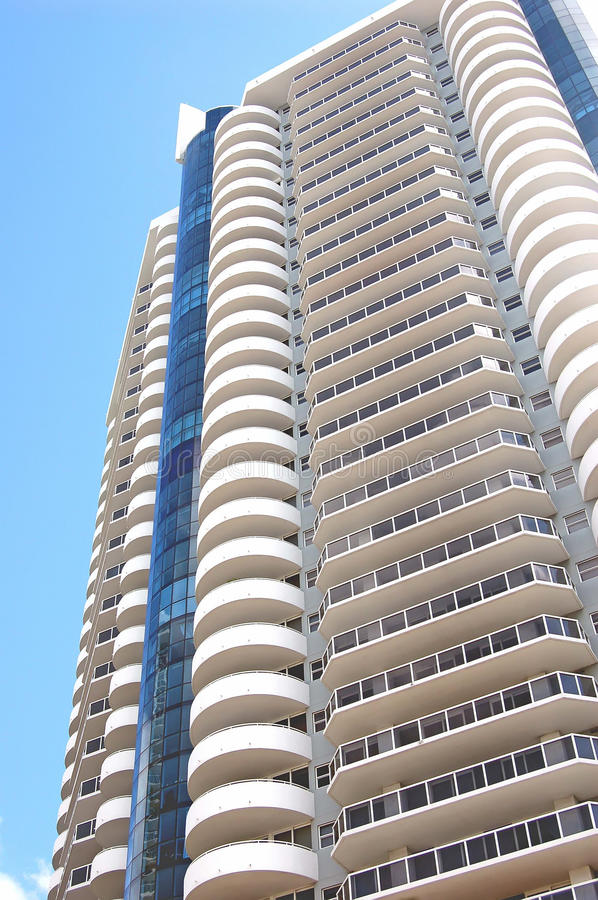 Exterior Views of a Luxury High-rise Condo High-rise building royalty free stock photography