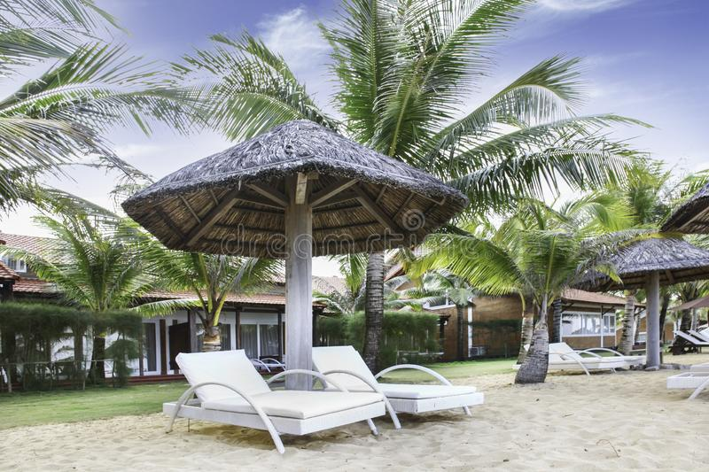 Exterior of villa with beautiful exterior located in the resort royalty free stock photos