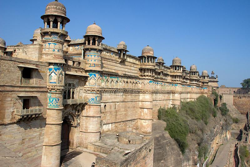 Exterior wall of Gwalior Fort royalty free stock photography