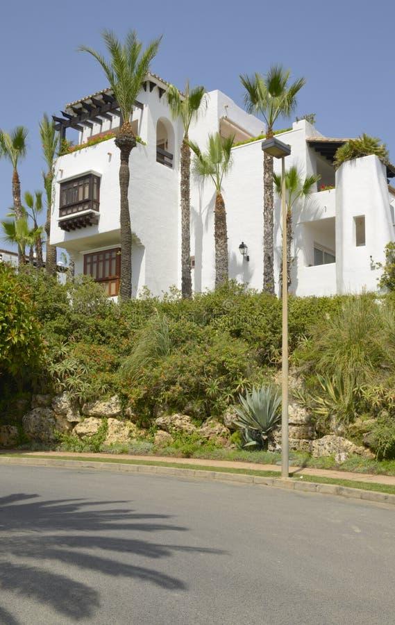Exterior of white apartment royalty free stock photo