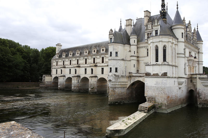 Exteriors Chateau de Chenonceau, La la Loira, Francia di Vallee de fotografie stock libere da diritti