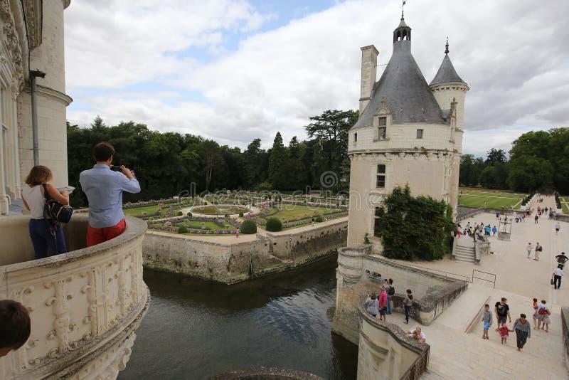 Exteriors Chateau de Chenonceau, Vallee De-La die Loire, Frankreich stockbilder