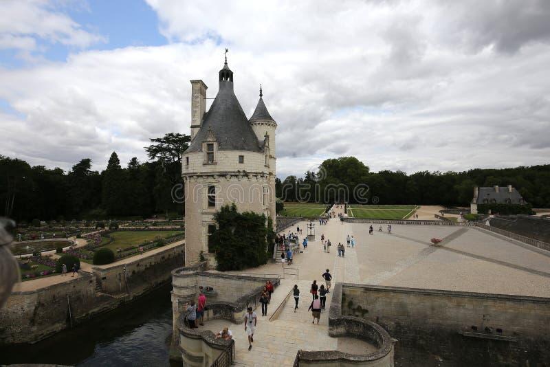 Exteriors Chateau de Chenonceau, Vallee De-La die Loire, Frankreich stockfotos