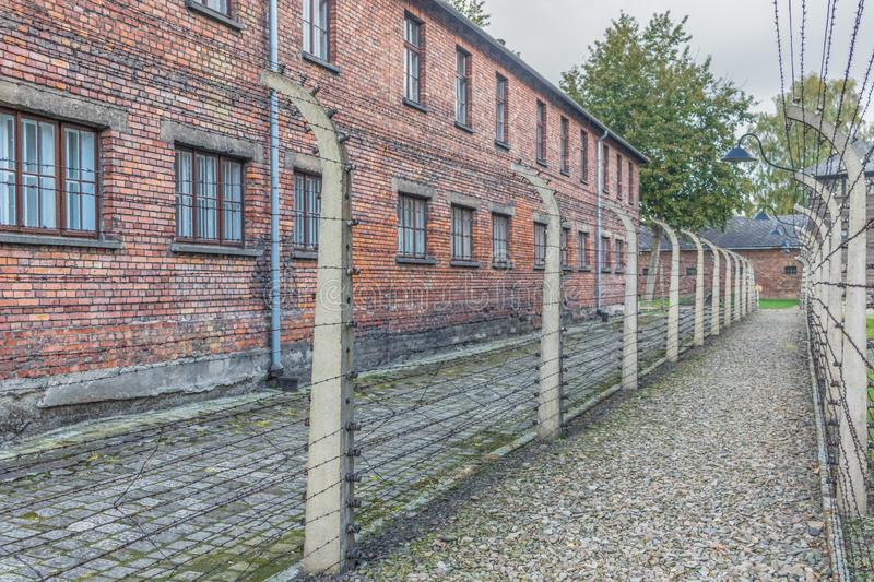 The extermination camp of Auschwitz, Poland. Auschwitz, Poland - the most deadliest among the extermination camps built during the holocaust, Auschwitz still royalty free stock photos