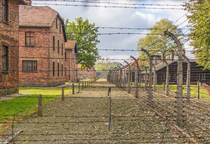 The extermination camp of Auschwitz, Poland. Auschwitz, Poland - the most deadliest among the extermination camps built during the holocaust, Auschwitz still royalty free stock photography