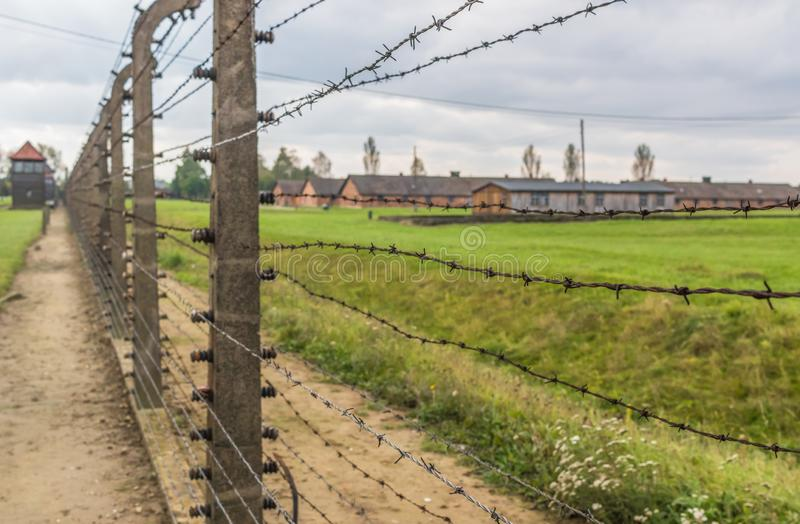 The extermination camp of Auschwitz, Poland. Auschwitz, Poland - the most deadliest among the extermination camps built during the holocaust, Auschwitz still stock image