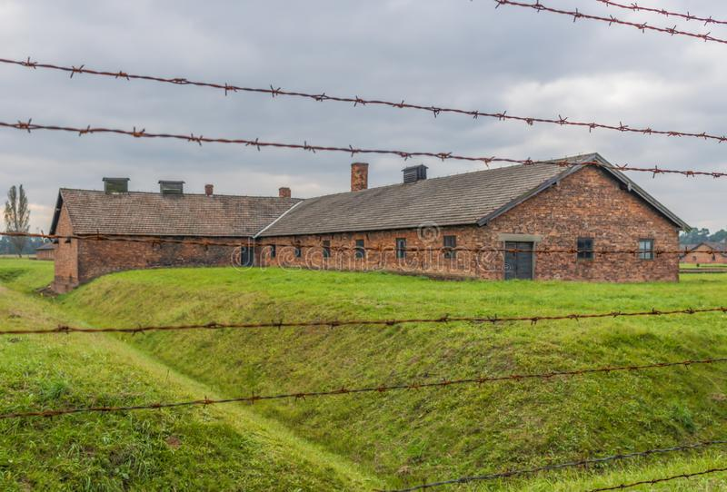 The extermination camp of Auschwitz, Poland. Auschwitz, Poland - the most deadliest among the extermination camps built during the holocaust, Auschwitz still royalty free stock images