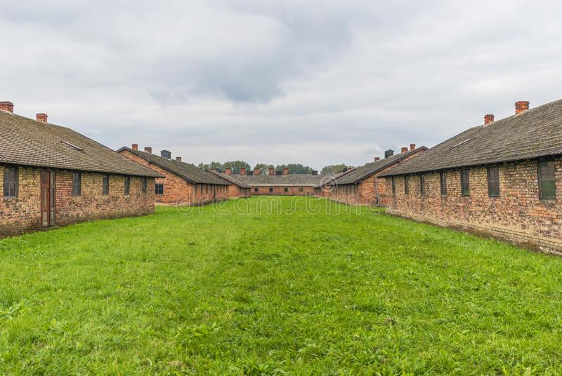 The extermination camp of Auschwitz, Poland. Auschwitz, Poland - the most deadliest among the extermination camps built during the holocaust, Auschwitz still royalty free stock photo