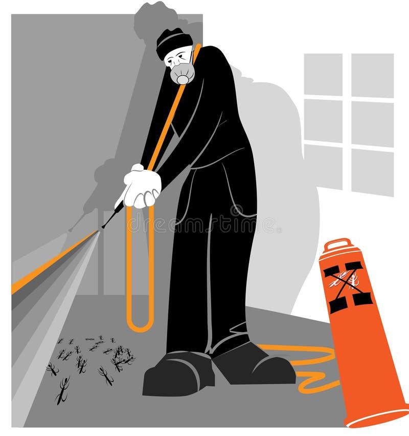 Exterminator illustration libre de droits