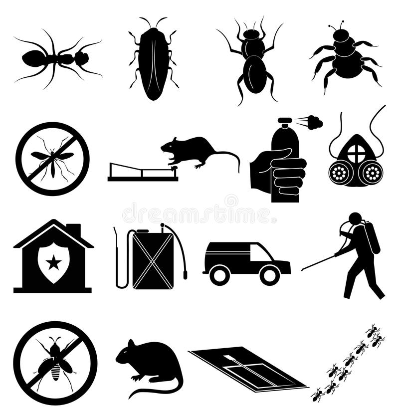 Free Exterminators Icons Set Stock Photos - 52216553