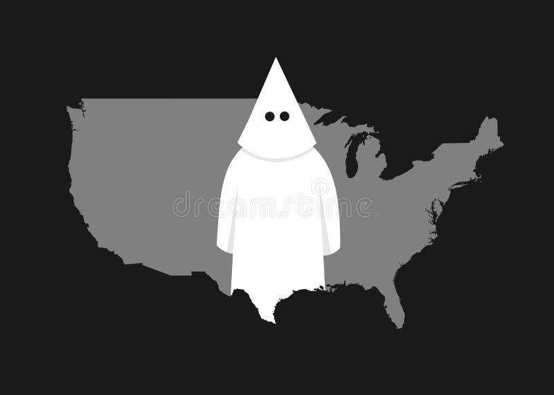 Extermism y racismo en los E.E.U.U. stock de ilustración