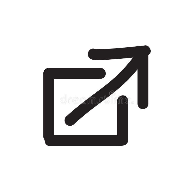 Extern Verbindingspictogram voor het Web van UI of UX-& mobiele toepassingen stock illustratie