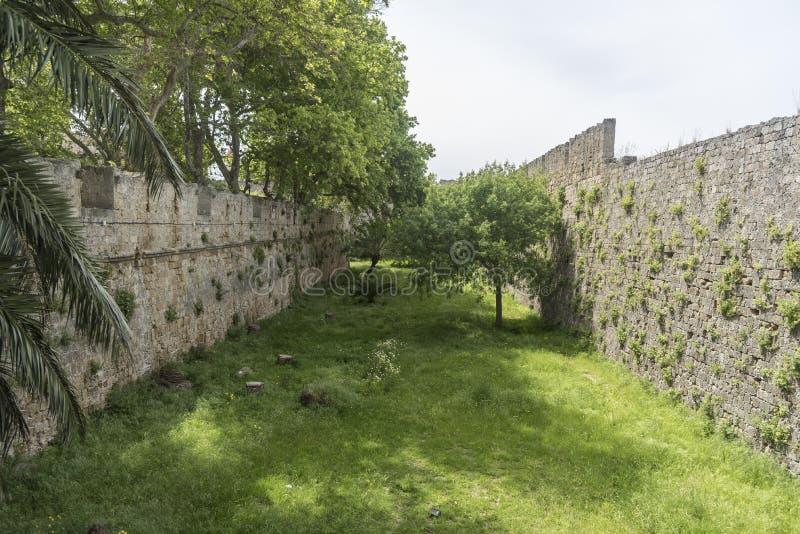 External ściana pałac Uroczysty mistrz rycerze Rhodes zdjęcie royalty free