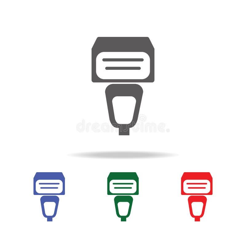 External błysk dla kamery ikony Elementy fotografii kamera w wielo- barwionych ikonach Premii ilości graficznego projekta ikona i ilustracja wektor