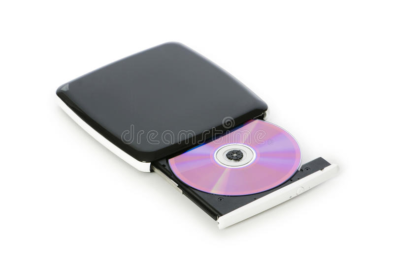 External dvd drive royalty free stock photo