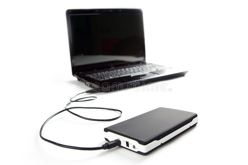 Download External Hard Disc Connect To Laptop Stock Photo - Image: 13264226