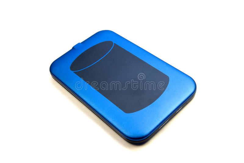 External hard drive. External usb hard drive isolated over white stock photos