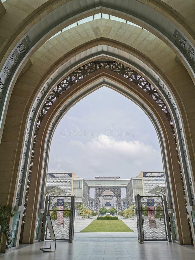 External Islamic arches stock photos