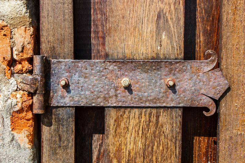 External Rustic Door Gate Hinge stock photography