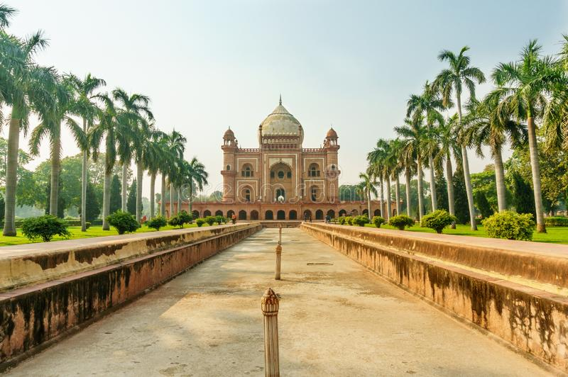 Humayun`s tomb and char bagh gardens in Delhi royalty free stock images