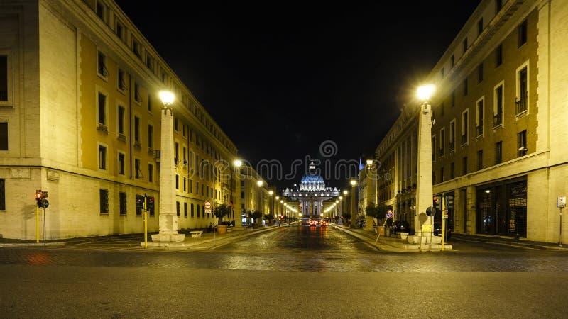External St Peter ` s bazyliki kwadrat, Rzym Włochy obraz royalty free