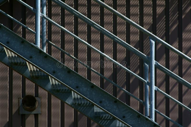 External staircase industrial building royalty free stock photography
